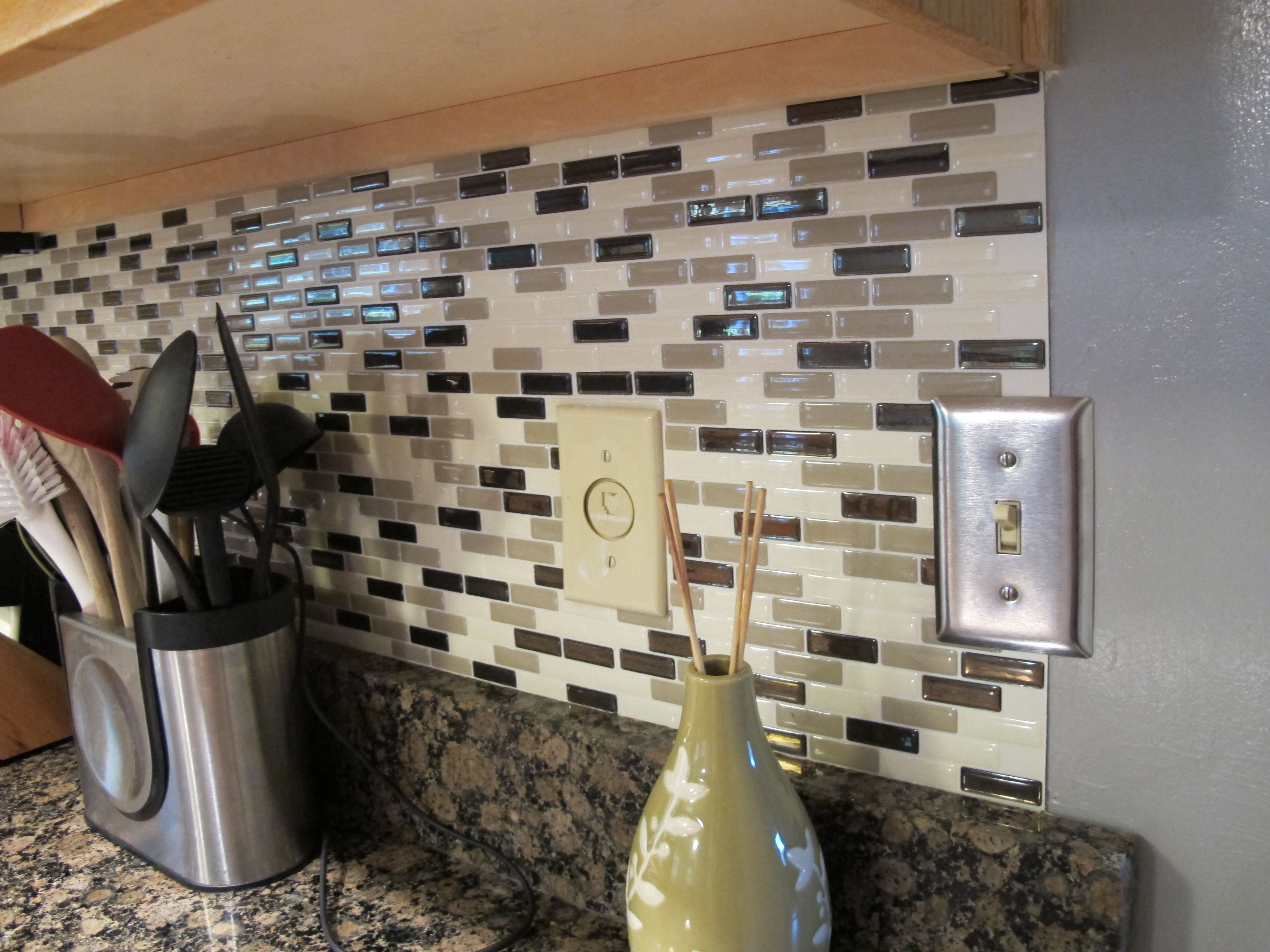 Collection Peel And Stick Backsplash Reviews Pictures ...