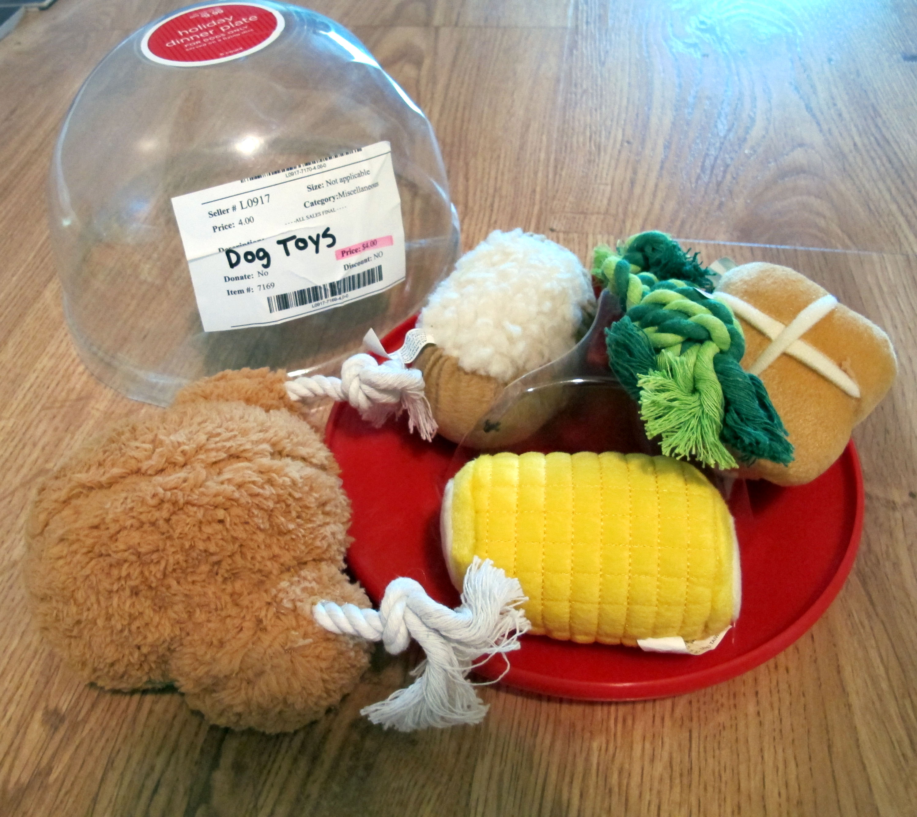 Turkey Dinner Dog Toy
