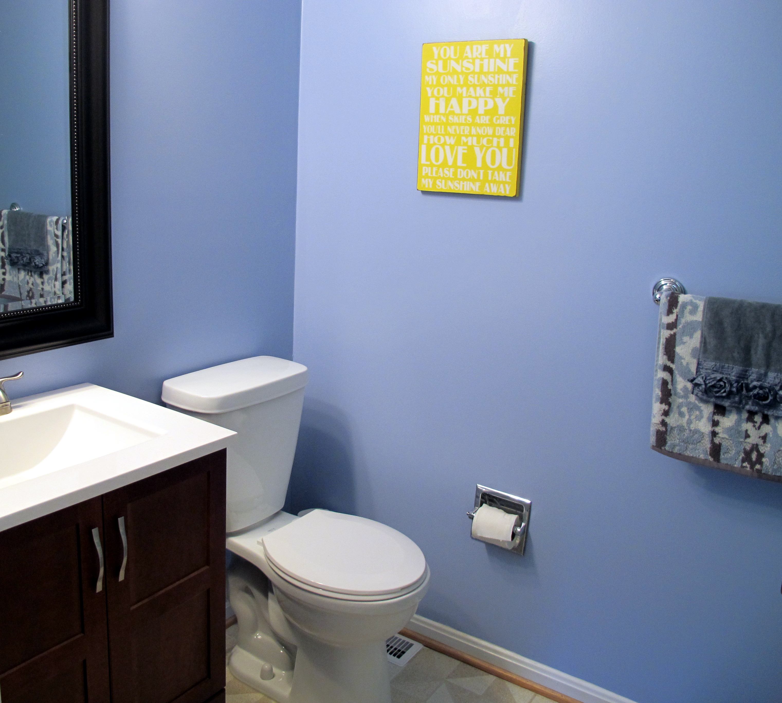 No Longer the Ugly Green Bathroom - Pocketful of Joules