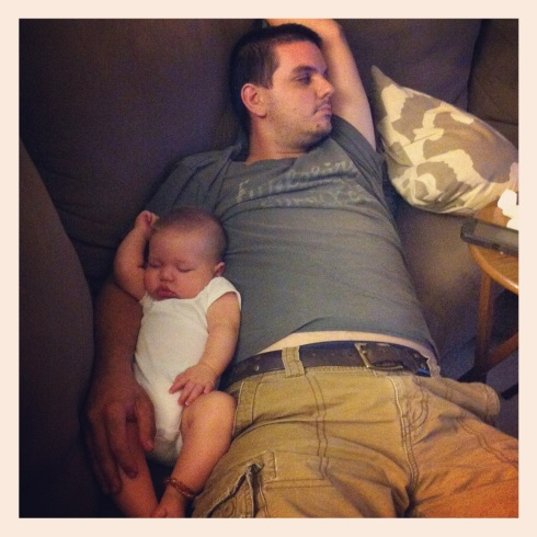 Favorite Father & Son Picture - I love the way that they're both in the same position
