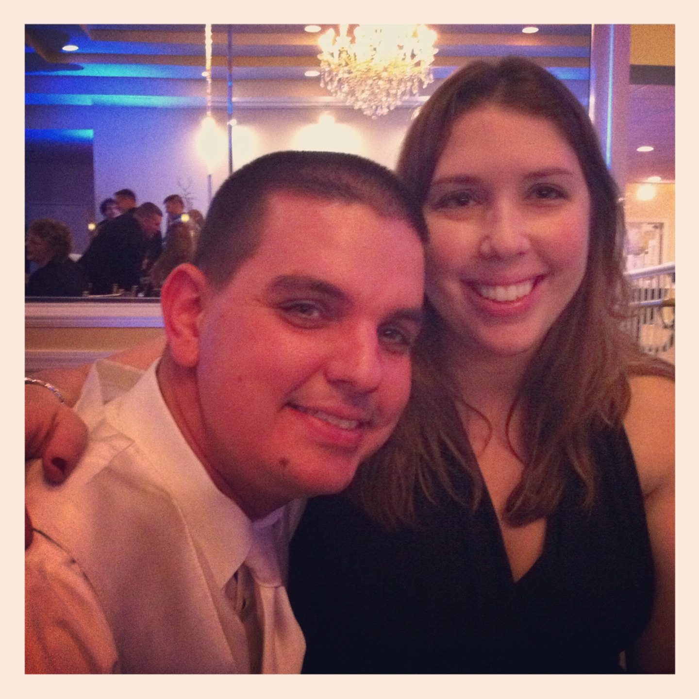 Favorite Picture of Me & My Husband - all snazzed up at our friend's wedding