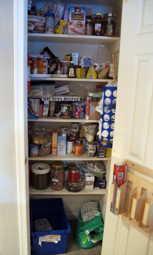 before - full pantry