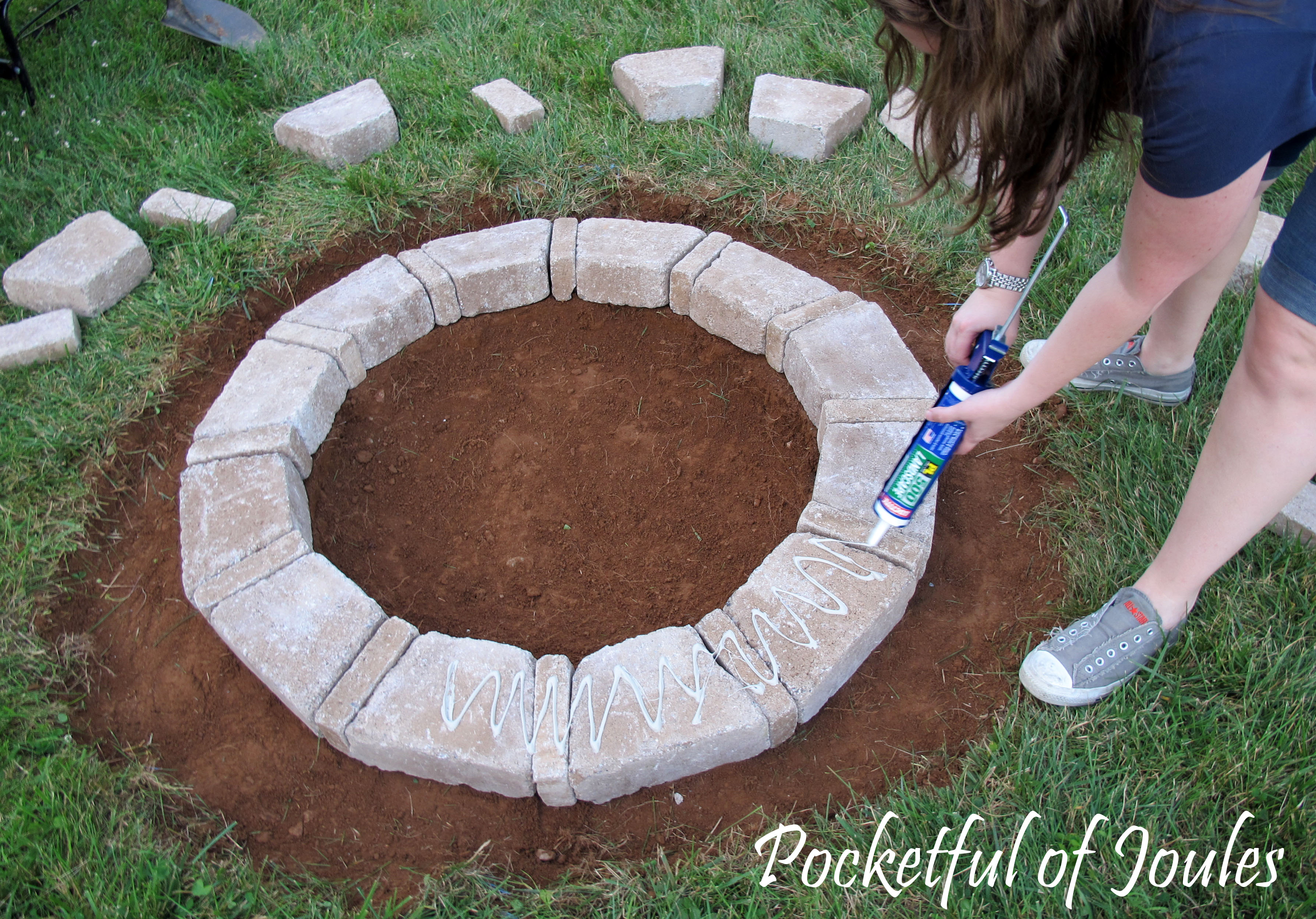 Building a RumbleStone Fire Pit | Pocketful of Joules