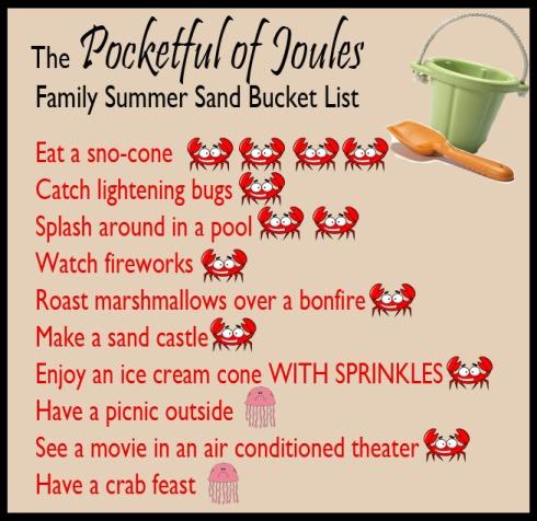Summer Sand Bucket List - progress