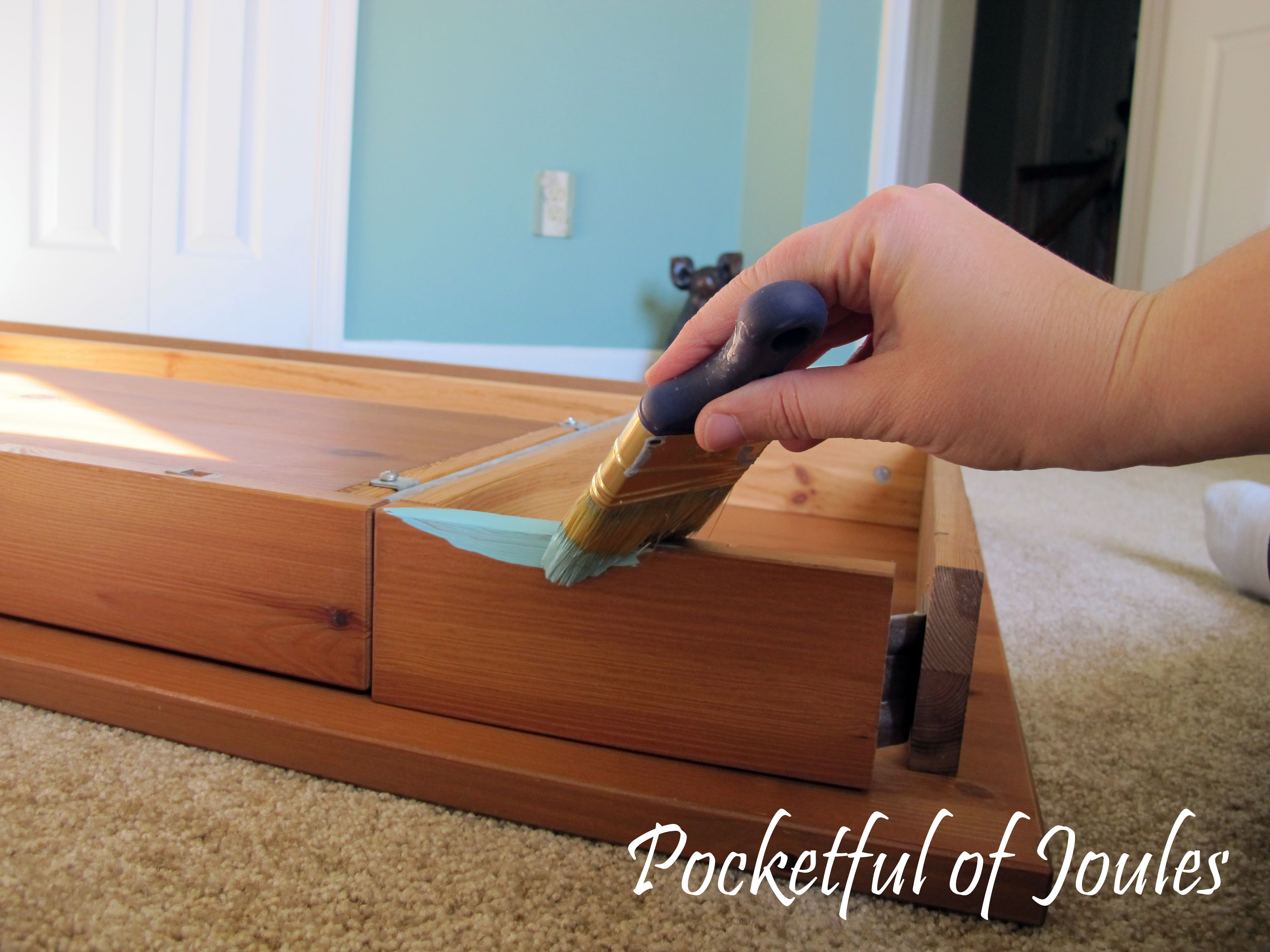 during - painting desk